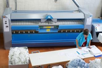 La calendreuse utilis�e par le personnel de la Blanchisserie Saint Jean