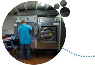 Machines industrielles utilisées pour le lavage du linge