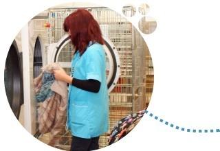 Séchage du linge en forme en séchoir adapté au type de textile